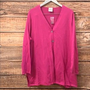 Bedford Fair Pink Button Front Cardigan